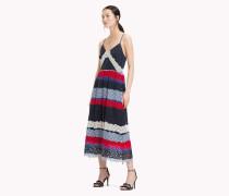 Midi-Kleid mit Entredeux-Spitze