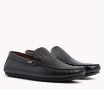 Loafer mit geprägtem Leder