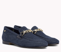 Denim Chain Loafers