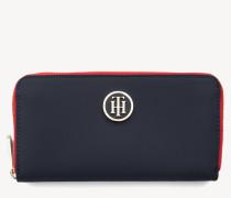 Große Reißverschluss-Brieftasche