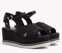 Sandale mit Flatform-Absatz in Weboptik