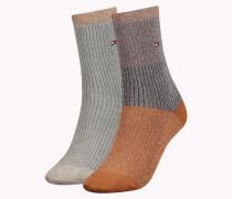 Socken in Metallic Blockfarben im Doppelpack
