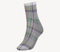 Socken mit Schottenkaro
