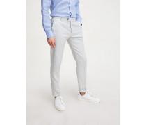 Essential Slim Fit Hose aus Leinenmix