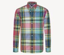 Kariertes Hemd aus Baumwoll-Popeline