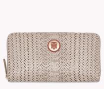 Brieftasche mit Schlangenprint