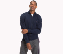 Big & Tall Mock Neck-Cardigan