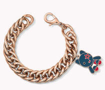 Armband mit Anhänger in Rotgold
