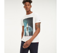 T-Shirt mit sommerlichem Foto-Print