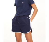 Fleece-Shorts mit Kontrastpaspeln