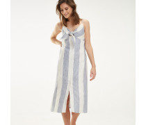 Maxi-Kleid aus reinem Leinen