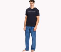 Pyjama-Set mit Karomuster aus Baumwolle