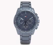 Decker Armbanduhr aus blauem Edelstahl