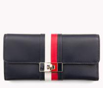 Lederbrieftasche mit Drehverschluss