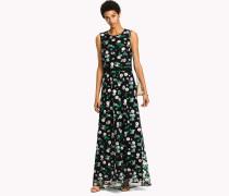Ärmelloses Maxi-Kleid mit floralem Print