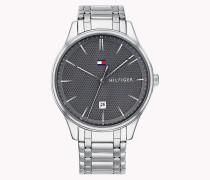 Armbanduhr aus Edelstahl mit Ziffern