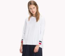 Sweatshirt mit Tommy-Streifen-Bündchen