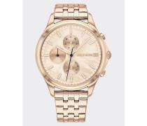 Nelkenvergoldete Chronograph-Armbanduhr