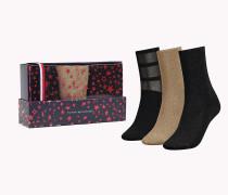 Glitzernde Socken im Dreierpack