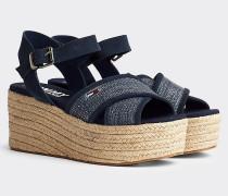 Flatform-Sandale mit Jute