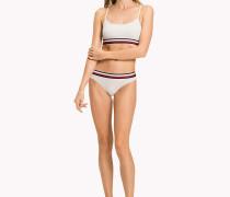 Bikinihose mit Streifen am Taillenbund