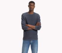 Texturierter Pullover im Denim-Look