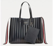 Tommy Icons Tote-Bag mit Falten