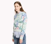 Gekürztes Frottee-Sweatshirt