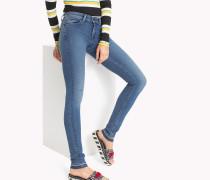 Skinny Fit Jeans mit niedriger Leibhöhe und Power-Stretch