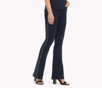 Slim Bootcut Fit Jeans mit Ketten-Detail