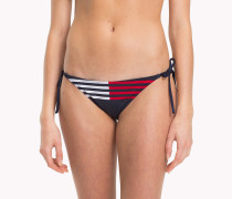 Bikinihose mit Bindeband und Flag