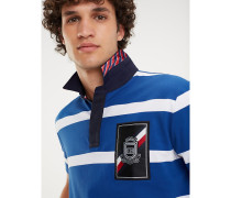 Gestreiftes Rugby-Poloshirt