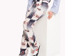 Silk Pyjama Pant mit Bandana Print