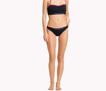 Bikinihose mit Logo-Taillenbund