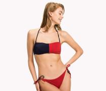 Bandeau-Bikinioberteil mit Flag