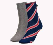 Socken mit Tommy-Streifen im Doppelpack
