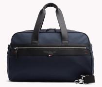 Duffel-Bag aus Leder mit Kontrast-Details
