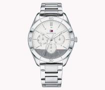 Technische Armbanduhr aus Edelstahl