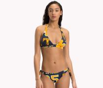 Neckholder-Bikinioberteil mit Logo