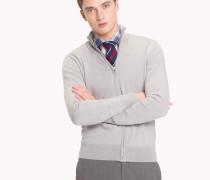 Woll-Cardigan mit Zipper