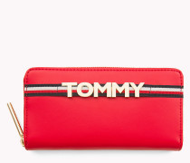 Lederbrieftasche mit Tommy-Logo