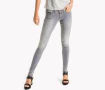 Skinny Jeans mit niedriger Leibhöhe