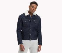 Jeansjacke mit Fleecefutter