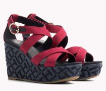 Keilabsatz-Sandale mit Initialen-Muster