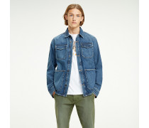 Cargo-Jeansjacke aus Recycling-Baumwolle