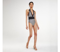 Zendaya Badeanzug mit Streifen