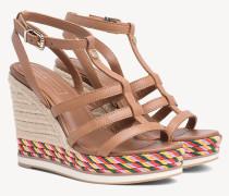 Riemen-Sandale mit Keilabsatz und Seil