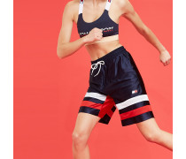 Gestreifte Retro-Boxing-Shorts