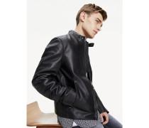 Slim Fit Biker-Jacke aus Leder