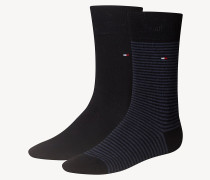 2er-Pack gestreifte Socken